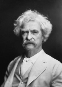 """Mark Twain by AF Bradley"" by A.F. Bradley, New York - steamboattimes.com. Licensed under Public Domain via Wikimedia Commons -"